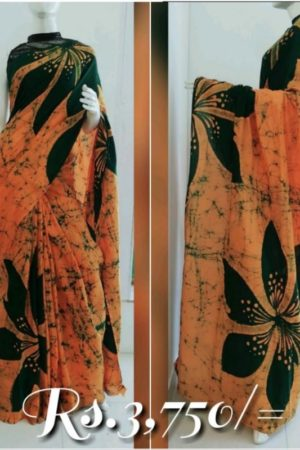 Sri Lankan Cotton Bathik Saree