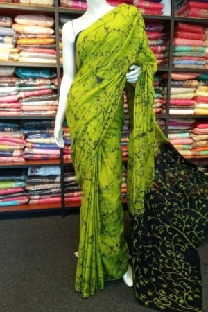 Sri Lankan Cotton Batik Saree Cash On Delivery Available Images displayed across the range of fabric may slightly contrast from the actual colour. This may happen due to multiple settings in your monitor or viewing device, or effect of our digital photo.