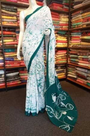SRI LANKAN COTTON BATIK SAREE
